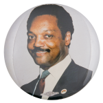 Jesse Jackson Color Portrait Political Button Museum