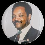 Jesse Jackson Color Portrait Political Button Museum