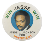 Jesse L. Jackson For President Political Button Museum