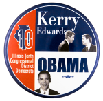 Kerry Obama Campaign Political Busy Beaver Button Museum