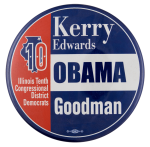 Kerry Obama Goodman Campaign Political Busy Beaver Button Museum