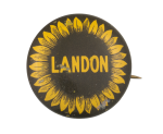 Landon Sunflower Political Button Museum