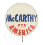 McCarthy for America Political Button Museum