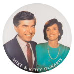 Mike and Kitty Dukakis Political Button Museum