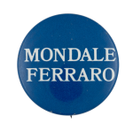 Mondale Ferraro Blue Political Busy Beaver Button Museum