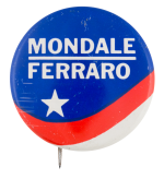 Mondale Ferraro Star and Stripes Political Button Museum
