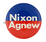 Nixon Agnew Blue Red Political Button Museum