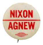 Nixon Agnew Red Line Political Busy Beaver Button Museum
