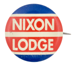 Nixon Lodge Red White and Blue Political Button Museum