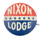 Nixon Lodge Stars Political Button Museum