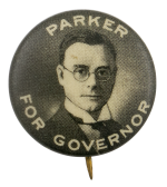 Parker for Governor Political Busy Beaver Button Museum