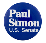 Paul Simon U.S. Senate Political Button Museum