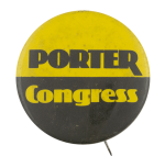Porter Congress Political Busy Beaver Button Museum