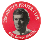 Quayle President's Prayer Club Political Button Museum