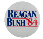 Reagan Bush 84 Big Political Busy Beaver Button Museum