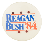Reagan Bush '84 with Lights Political Button Museum