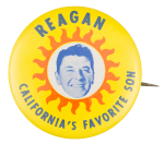Reagan California's Favorite Son Political Button Museum