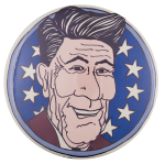 Reagan Illustration Political Button Museum