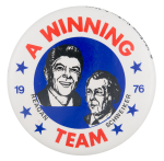 Reagan Schweiker A Winning Team Political Button Museum