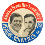 Reagan Schweizer in '76 Political Button Museum