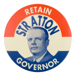 Retain Stratton Political Button Museum
