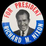 Richard M. Nixon for President Political Button Museum