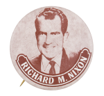 Richard M. Nixon Sepia Political Button Museum