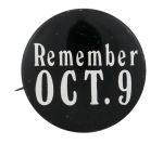Richard Nixon Remember October 9 Political Button Museum