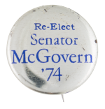 Senator McGovern '74 Political Button Museum