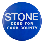 Stone for Cook County Political Button Museum