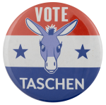 Vote Taschen Political Busy Beaver Button Museum