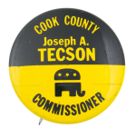 Tecson Commissioner Political Button Museum