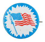 United States Flag Political Button Museum