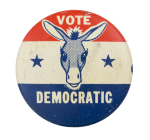 Vote Democratic Donkey Political Button Museum