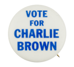Vote for Charlie Brown Entertainment Button Museum