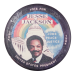 Vote for Jesse Jackson Political Button Museum