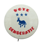 Vote Democratic Political Button Museum
