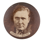 Wendell L. Willkie Portrait Political Button Museum