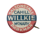 Willkie Cahill McNary Political Button Museum