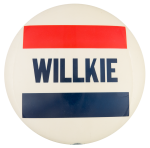 Willkie Red and Blue Political Button Museum