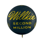Willkie Second Million Political Busy Beaver Button Museum