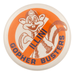 Illini Gopher Busters School Busy Beaver Button Museum
