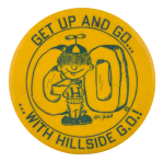 Hillside G.O. Yellow Schools Button Museum