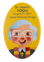 Sister Jean's 100th Loyola University School Busy Beaver Button Museum