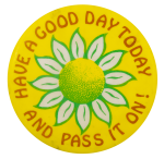 Have a Good Day Daisy Ice Breakers Busy Beaver Button Museum