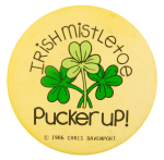Irish Mistletoe Social Lubricator Busy Beaver Button Museum