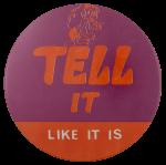 Tell It Like It Is Orange Ice Breakers Busy Beaver Button Museum