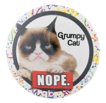 Grumpy Cat Ice Breakers Button Museum
