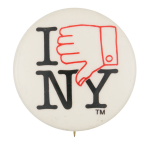I Thumbs Down New York Social Lubricator Button Museum