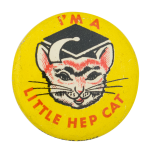 Little Hep Cat Social Lubricators Button Museum